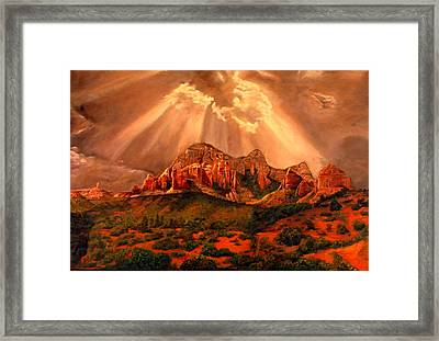 Courthouse Butte Framed Print