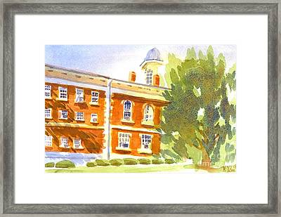 Courthouse In August Sun Framed Print by Kip DeVore