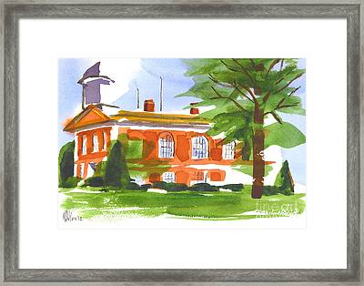 Courthouse On A Summers Evening Framed Print