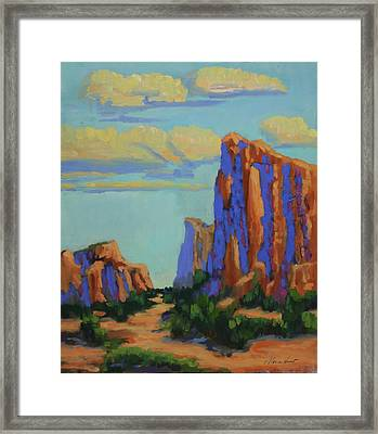 Courthouse Rock In Sedona Framed Print by Maria Hunt