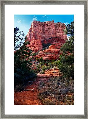 Courthouse Rock Framed Print