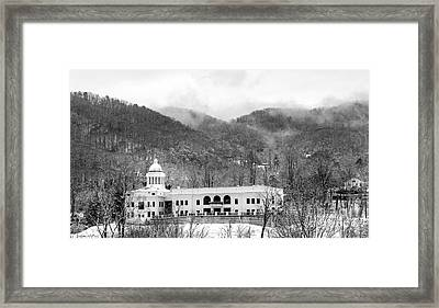 Courthouse Snow 2014 Framed Print