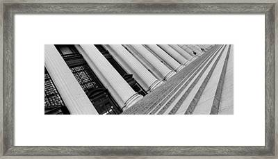 Courthouse Steps, Nyc, New York City Framed Print