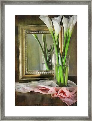 Courting Calla Framed Print