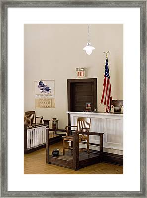 Courtroom Of The Old Monroe County Framed Print by Panoramic Images
