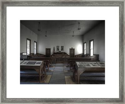 Courtroom Framed Print by Richard Brown
