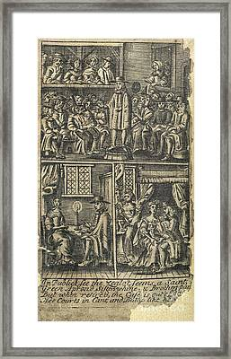 Courtship,17th Century Artwork Framed Print