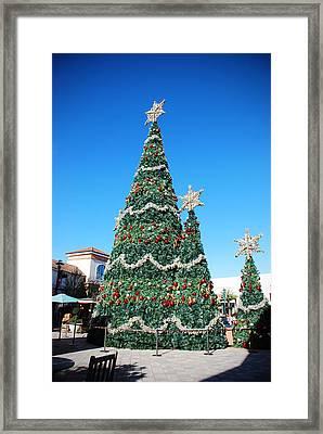 Courtyard Christmas Framed Print