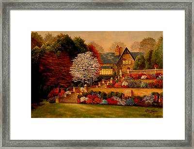 Framed Print featuring the painting Courtyard Dawning by Rick Fitzsimons