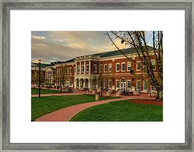 Courtyard Dining Hall - Wcu Framed Print
