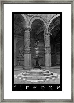 Courtyard Fountain Framed Print by Weston Westmoreland