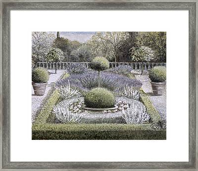 Courtyard Garden Framed Print by Ariel Luke