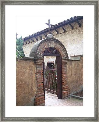 Courtyard Gateway Framed Print