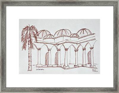 Courtyard In The Topkapi Palace Framed Print