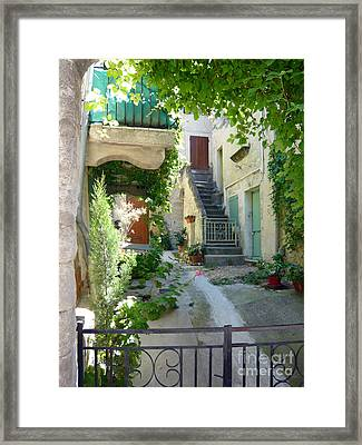 Courtyard Framed Print by Lauren Leigh Hunter Fine Art Photography