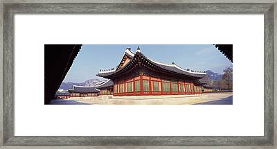 Courtyard Of A Palace, Kyongbok Palace Framed Print by Panoramic Images