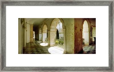 Courtyard Of Igreja De Sao Francisco Framed Print by Panoramic Images