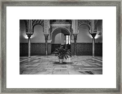 Courtyard Of The Dolls Bw Framed Print by Joan Carroll