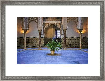 Courtyard Of The Dolls Framed Print by Joan Carroll