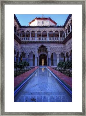 Courtyard Of The Maidens II Framed Print by Joan Carroll