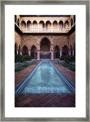 Courtyard Of The Maidens Framed Print by Joan Carroll