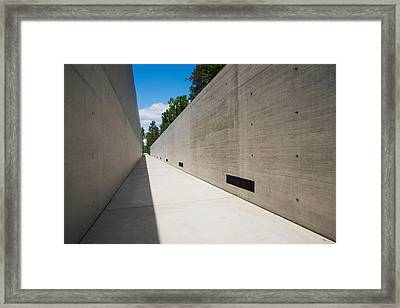 Courtyard To Bergen-belsen Ww2 Framed Print by Panoramic Images