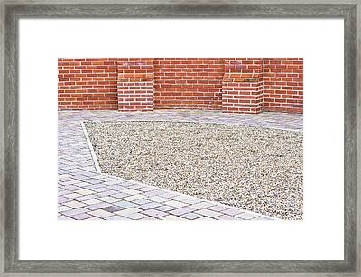 Courtyard Framed Print by Tom Gowanlock