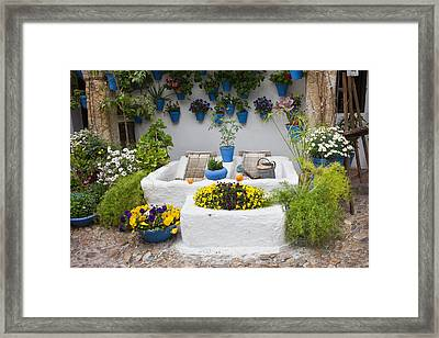 Courtyard With Washing Boards Framed Print by Artur Bogacki