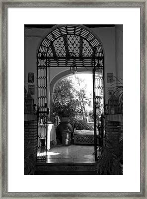 Courtyards In South Spain  Framed Print