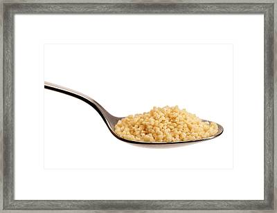 Couscous On A Spoon Framed Print by Daniel Sambraus