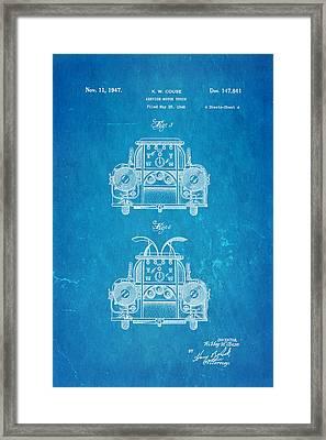 Couse Fire Truck Patent Art 4 1947 Blueprint Framed Print