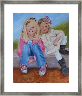 Cousins Framed Print by Carol Berning
