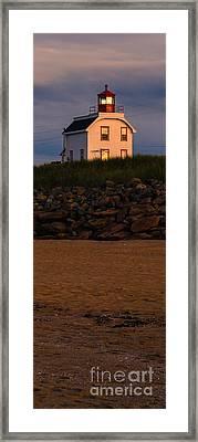 Cousin's Shore Lighthouse Pei Framed Print by Edward Fielding
