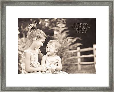 Cousins Framed Print by Trish Tritz