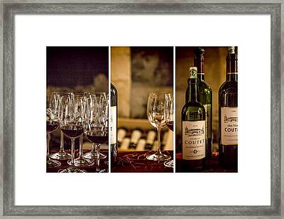 Coutet Wine Tour Triptych Framed Print by Georgia Fowler