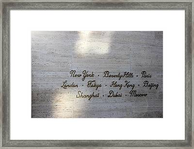 Couture Sign Framed Print