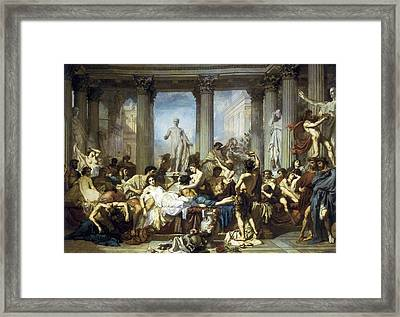 Couture, Thomas 1815-1879. The Romans Framed Print by Everett
