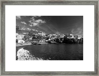 Cove In Black And White Framed Print by Tracy Winter
