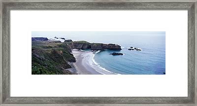 Cove On North Coast, California, Usa Framed Print