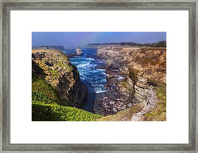 Cove On The Mendocino Coast Framed Print
