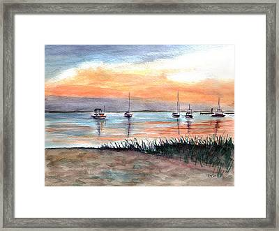 Cove Sunrise Framed Print