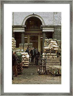 Covent Garden Market London 1973 Framed Print by David Davies