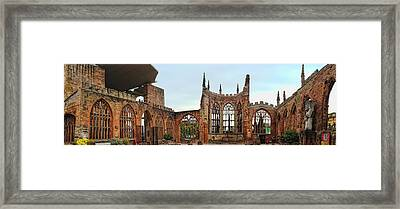 Coventry Cathedral Ruins Panorama Framed Print