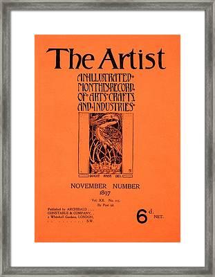 Cover For The Artist Magazine, November 1897 Framed Print