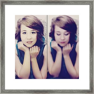 Cover Girl Diptych Framed Print