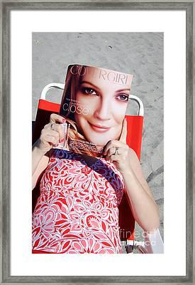 Cover Girl Framed Print by Edward Fielding
