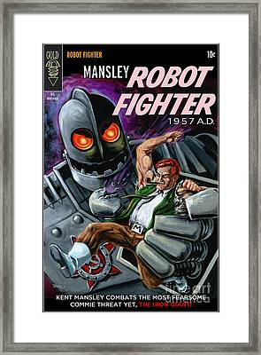 Cover To Mansley Robot Fighter Framed Print
