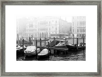 Covered Boats In Venice Framed Print