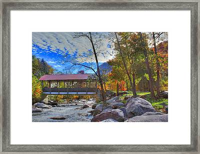 Covered Bridge Framed Print