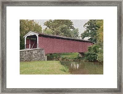 Covered Bridge Framed Print